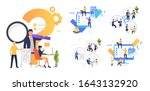 collaboration on project set....   Shutterstock .eps vector #1643132920