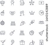 line icons set. party pack.... | Shutterstock .eps vector #1643142889