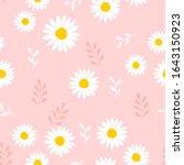 Seamless Pattern Of Daisy...