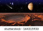 cosmic landscape  view from... | Shutterstock . vector #164315933