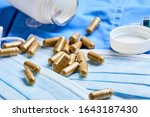 medical mask and other... | Shutterstock . vector #1643187430