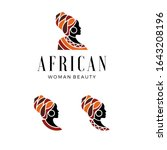 beautiful woman's logo from... | Shutterstock .eps vector #1643208196