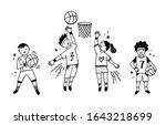 Children Playing Basketball...
