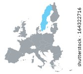 map of european union with the... | Shutterstock .eps vector #164322716