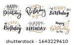 happy birthday celebration...   Shutterstock .eps vector #1643229610