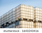 White Ibc Container In Outdoor...