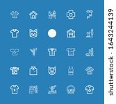 editable 25 collar icons for... | Shutterstock .eps vector #1643244139