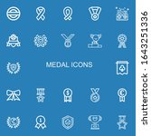 editable 22 medal icons for web ... | Shutterstock .eps vector #1643251336
