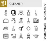 cleaner simple icons set.... | Shutterstock .eps vector #1643265079