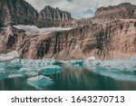 Floating Glacial Ice  A...