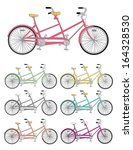 Vector Set Of Tandem Bicycles....