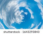 Blue Abstract Spiral Clouds In...