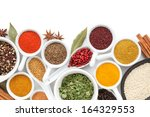 various spices selection.... | Shutterstock . vector #164329553