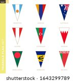 triangle flag set  stylized... | Shutterstock .eps vector #1643299789