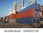 port in hong kong  | Shutterstock . vector #164331710