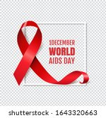 aids day symbol red ribbon... | Shutterstock .eps vector #1643320663