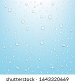 water drop isolated blue... | Shutterstock .eps vector #1643320669