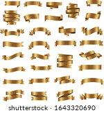 golden ribbon set isolated... | Shutterstock .eps vector #1643320690