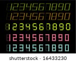 electronic numbers | Shutterstock .eps vector #16433230