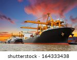 shipping port in thailand. | Shutterstock . vector #164333438