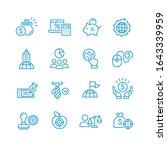 global business vector icons set | Shutterstock .eps vector #1643339959