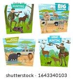 Hunting Sport And Safari Vecto...