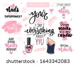 nails and manicure set with... | Shutterstock .eps vector #1643342083