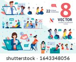 group courses for pregnant... | Shutterstock .eps vector #1643348056