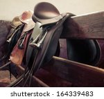 rider on horse vintage retro... | Shutterstock . vector #164339483