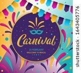 carnival poster design. rio...   Shutterstock .eps vector #1643405776