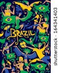 brazil carnival | Shutterstock .eps vector #164341403