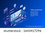 video production flat 3d... | Shutterstock .eps vector #1643417296