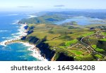 aerial shot of knysna in the... | Shutterstock . vector #164344208