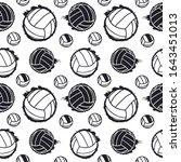 black seamless pattern for... | Shutterstock .eps vector #1643451013