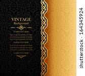 vintage background  antique... | Shutterstock .eps vector #164345924