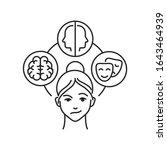 bipolar disorder black line... | Shutterstock .eps vector #1643464939