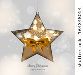 background with christmas balls | Shutterstock .eps vector #164348054