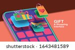 gift and shopping interface on...