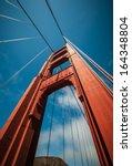 golden gate bridge pillar in...   Shutterstock . vector #164348804