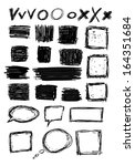 set of hand drawn squares and... | Shutterstock . vector #164351684