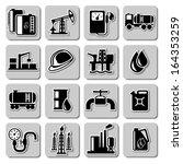 vector oil industry icons | Shutterstock .eps vector #164353259
