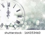 new year's at midnight   old... | Shutterstock . vector #164353460