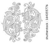 paisley. ethnic ornament....   Shutterstock .eps vector #164355776