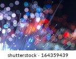 optical fibres dinamic flying... | Shutterstock . vector #164359439
