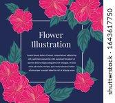 hibiscus flower illustration... | Shutterstock .eps vector #1643617750