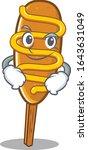 cool corn dog mascot character... | Shutterstock .eps vector #1643631049