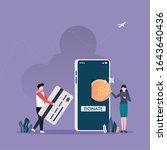 donating money by online... | Shutterstock .eps vector #1643640436
