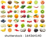 collection of various fruits... | Shutterstock . vector #164364140