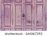 Old Wooden Purple Door With...