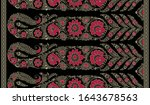 seamless paisley border on... | Shutterstock . vector #1643678563